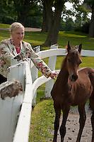 20100809 Ann Brown at Morgan Horse Farm