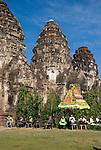 The Three Pillars of Wat Phra Prang Sam Yot in Lop Buri