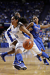 UK guard Jennifer O'Neill goes toward the basket during the second half of the women's basketball game v. Depaul University in Rupp Arena in Lexington, Ky., on Sunday, December 7, 2012. Photo by Genevieve Adams | Staff