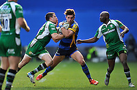Wynand Olivier of Worcester Warriors takes on the London Irish defence. Aviva Premiership match, between London Irish and Worcester Warriors on February 7, 2016 at the Madejski Stadium in Reading, England. Photo by: Patrick Khachfe / JMP