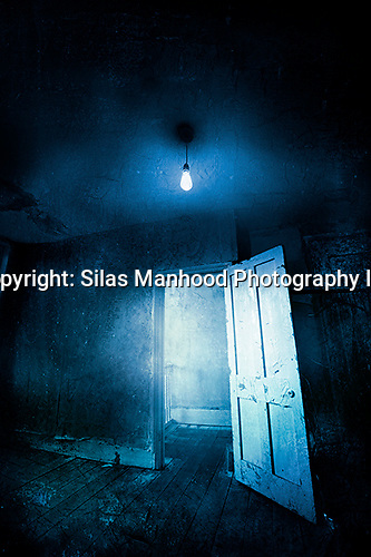 Abandoned Room With Light Bulb