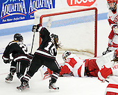 Bryanne Panchuk (Union - 21), Christine Valente (Union - 15), Alissa Fromkin (BU - 36), Kathryn Miller (BU - 4) - The Boston University Terriers defeated the visiting Union College Dutchwomen 6-2 on Saturday, December 13, 2012, at Walter Brown Arena in Boston, Massachusetts.