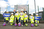 Welsh Water - Competition winners from Llansawel Primary School in Briton Ferry..L-R: Ebony Locke, Lucian Harris, Courtney Evans, Chloe Evans, James Joyce, Megan Evans & John knight with councillor Hugh James & Head Teacher Lait..11.07.12.©Steve Pope.