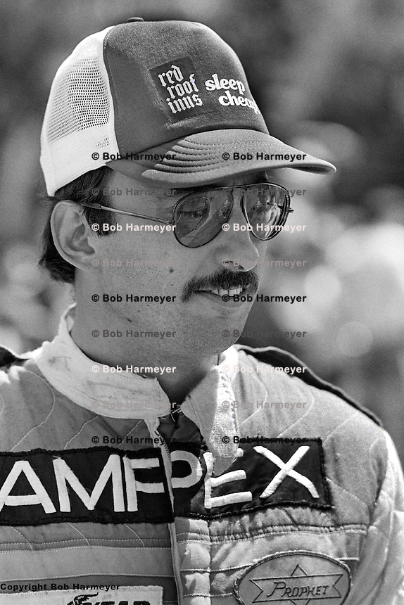 Bobby Rahal, driver of the U.S. Racing Prophet Chevrolet, at the 1980 SCCA Can-Am race at the Mid-Ohio Sports Car Course, Lexington, Ohio, USA.