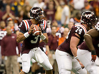 Logan Thomas of Virginia Tech in action during Sugar Bowl game against Michigan at Mercedes-Benz SuperDome in New Orleans, Louisiana on January 3rd, 2012.  Michigan defeated Virginia Tech, 23-20 in first overtime.