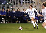 Duke's Sarah McCabe on Wednesday, November 2nd, 2005 at SAS Stadium in Cary, North Carolina. The Duke University Blue Devils defeated the Boston College Eagles 2-0 during their Atlantic Coast Conference Tournament Quarterfinal game.
