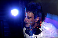 Dj Whosane, one of India's most famous Dj's plays at the Tarun Tahiliani after show party - India fashion week, Autumn - winter collections, New Delhi, April 2006