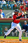 2 March 2009: Houston Astros' center fielder Michael Bourn at bat during a Spring Training game against the New York Yankees at Osceola County Stadium in Kissimmee, Florida. The teams played to a 5-5, 9-inning tie. Mandatory Photo Credit: Ed Wolfstein Photo