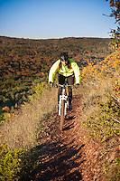 Riding On the Edge a mountain bike trail along the edge of Brockway Mountain in Copper Harbor Michigan Michigan's Upper Peninsula.