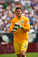 Celtic F. C. goalkeeper Lukasz Zaluska (24). Real Madrid defeated Celtic F. C. 2-0 during a 2012 Herbalife World Football Challenge match at Lincoln Financial Field in Philadelphia, PA, on August 11, 2012.