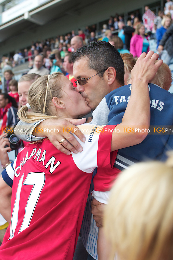 Katie Chapman with husband and son.. - Arsenal Ladies vs Bristol Academy - FA Women's Cup Final at Coventry City FC - 21/05/11 - MANDATORY CREDIT: Mark Hodsman/TGSPHOTO - Self billing applies where appropriate - 0845 094 6026 - contact@tgsphoto.co.uk - NO UNPAID USE.