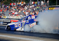 Jun. 17, 2011; Bristol, TN, USA: NHRA funny car driver Robert Hight during qualifying for the Thunder Valley Nationals at Bristol Dragway. Mandatory Credit: Mark J. Rebilas-