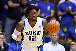 04 November 2014: Duke's Justise Winslow. The Duke University Blue Devils hosted the Livingstone College Blue Bears at Cameron Indoor Stadium in Durham, North Carolina in an NCAA Men's Basketball exhibition game. Duke won the game 115-58.