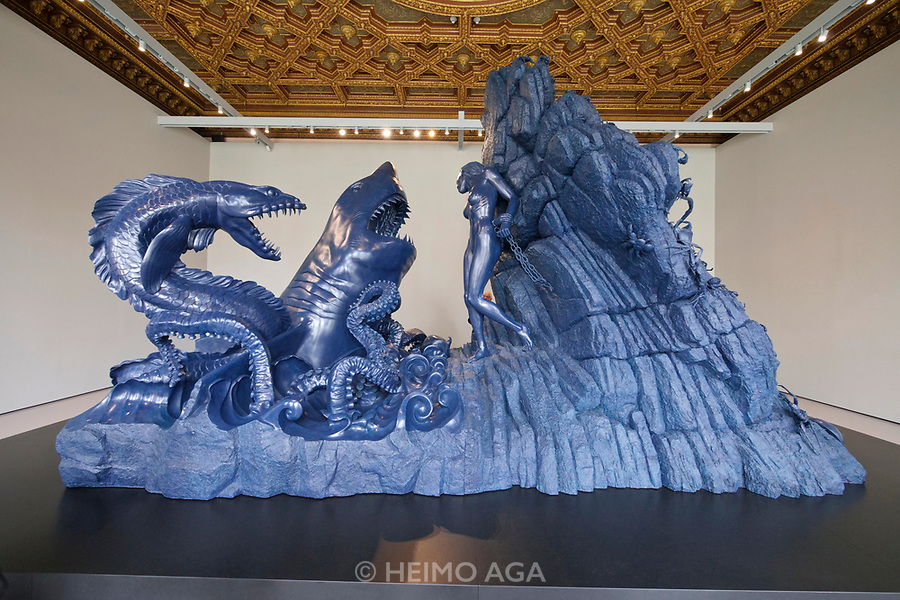 Palazzo Grassi. Damien Hirst: Treasures from the Wreck of the Unbelievable.<br /> Andromeda and the Sea Monster.