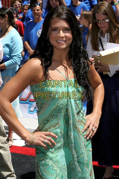 """DANICA PATRICK.World Premiere of """"Herbie Fully Loaded"""" held at the .El Capitan Theatre, Hollywood, CA, USA,.19 June 2005..half length green dress.Ref: ADM.www.capitalpictures.com.sales@capitalpictures.com.©Jacqui Wong/AdMedia/Capital Pictures."""