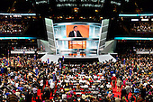 _________ the 2016 Republican National Convention to oder at the Quicken Loans Arena in Cleveland, Ohio on Monday, July 18, 2016.<br /> Credit: Ron Sachs / CNP<br /> (RESTRICTION: NO New York or New Jersey Newspapers or newspapers within a 75 mile radius of New York City)
