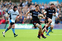 Michael Rhodes of Saracens goes on the attack. European Rugby Champions Cup Quarter Final, between Saracens and Glasgow Warriors on April 2, 2017 at Allianz Park in London, England. Photo by: Patrick Khachfe / JMP