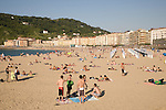 Zurriola Beach, San Sebastian, Basque Country, Spain