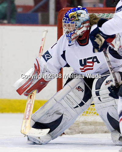 Jessie Vetter (US - 31) - Team USA defeated Team Canada 4-3 (so) to win the 2008 Four Nations Cup on Sunday, November 9, 2008, in the 1980 Rink in Lake Placid, New York.
