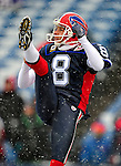 3 January 2010: Buffalo Bills' punter Brian Moorman warms up prior to a game against the Indianapolis Colts on a cold, snowy, final game of the season at Ralph Wilson Stadium in Orchard Park, New York. The Bills defeated the Colts 30-7. Mandatory Credit: Ed Wolfstein Photo
