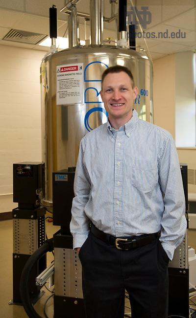 April 12, 2012; Presidential Award winner, Garrett Christian Moraski, Adm. Research Tech-Lab Pgrm. Mgr., Chemistry and Biochemistry. Photo by Barbara Johnston/University of Notre Dame