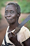 Displaced by war, a woman in the Makpandu refugee camp in Southern Sudan, 44 km north of Yambio, where more that 4,000 people took refuge in late 2008 when the Lord's Resistance Army attacked their communities inside the Democratic Republic of the Congo. Attacks by the LRA inside Southern Sudan and in the neighboring DRC and Central African Republic have displaced tens of thousands of people, and many worry the attacks will increase as the government in Khartoum uses the LRA to destabilize Southern Sudan, where people are scheduled to vote on independence in January 2011. Catholic pastoral workers have accompanied the people of this camp from the beginning.