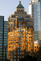 The art deco Marine Building in downtown Vancouver, British Columbia, Canada