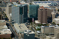 aerial photograph downtown office towers, Salt Lake City, Utah