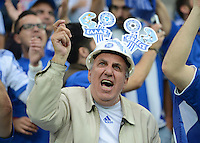 FUSSBALL  EUROPAMEISTERSCHAFT 2012   VIERTELFINALE Deutschland - Griechenland     22.06.2012 Griechischer Fan