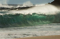 Pretty heavy water moving at big beach Maui, Hawaii.<br />When the swell is right this place is scary, only for real waterman.