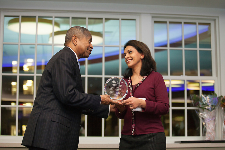 Dr. Usha Matta, Director of International Student Services, recieves an Award for Excellence in Global Engagement at the Global Engagement Awards Gala in Nelson Commons, on Thursday, November 19, 2015. Photo by Kaitlin Owens