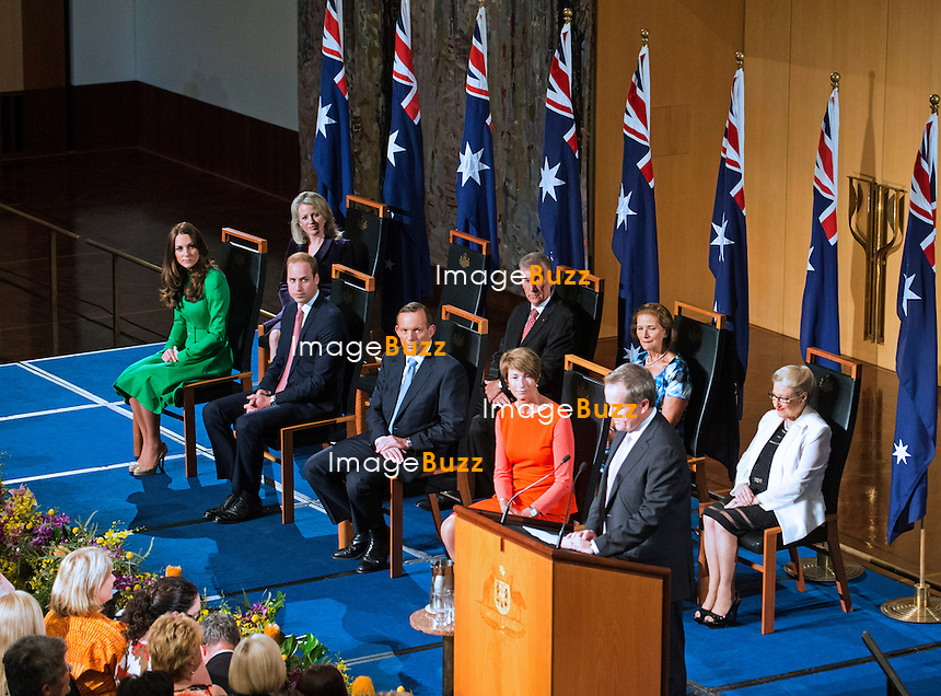 KATE, DUCHESS OF CAMBRIDGE AND PRINCE WILLIAM <br /> visit the Parliament House, where the Duke of Cambridge delivered a short speech.<br /> Canberra, Australia, 24.04.2014