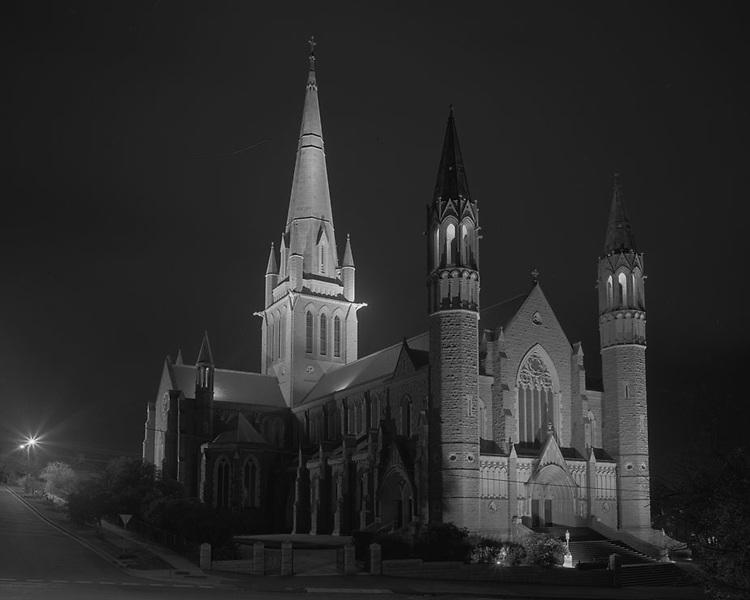 Cathedral at Night<br /> Bendigo<br /> 2011