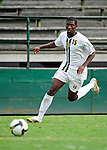 11 September 2009: University of Vermont Catamount forward Alassane Kane, a Freshman from Macon, GA, in action against the University of Portland Pilots, in the first round of the 2009 Morgan Stanley Smith Barney Soccer Classic held at Centennial Field in Burlington, Vermont. The Catamounts and Pilots battled to a 1-1 double-overtime tie. Mandatory Photo Credit: Ed Wolfstein Photo