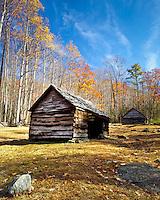 Old cabin along the Roaring Forks Motor Trail.