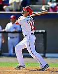 12 March 2011: Washington Nationals' second baseman Danny Espinosa at bat during a Spring Training game against the New York Yankees at Space Coast Stadium in Viera, Florida. The Nationals edged out the Yankees 6-5 in Grapefruit League action. Mandatory Credit: Ed Wolfstein Photo