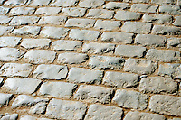 the cobbles of the Kemmelberg lay peacefully waiting for the riders<br /> <br /> 3 Days of West-Flanders 2015<br /> stage 2: Nieuwpoort - Ichtegem 184km