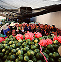 Woman bag watermelons just outside of Dali, in the Yunnan province of China. (Photo/Scott Dalton)