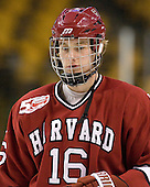 Alex Fallstrom (Harvard - 16) - The Northeastern University Huskies defeated the Harvard University Crimson 4-0 in their Beanpot opener on Monday, February 7, 2011, at TD Garden in Boston, Massachusetts.