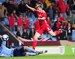 Simon Church lifts the ball over the keeper to score. England U21 V Wales U21, Uefa European U21 Championship qualifying play-off second leg &copy; Ian Cook IJC Photography iancook@ijcphotography.co.uk www.ijcphotography.co.ukUnholy Alliance Tour 2008,