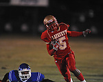 Lafayette High's Demarkous Dennis (5) runs 59 yards in the second quarter vs. North Pontotoc at William L. Buford Stadium in Oxford, Miss. on Thursday, October 27, 2011. Lafayette High won 49-7...