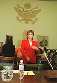 Raquel Welch prepares to testify before the United States House Government Reform Committee hearing on Dietary Supplement Health and Education Act in Washington, D.C. on March 25, 1999..Credit: Ron Sachs / CNP