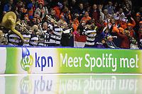 SCHAATSEN: HEERENVEEN: IJsstadion Thialf, 07-02-15, World Cup, De Friese Bocht, ©foto Martin de Jong