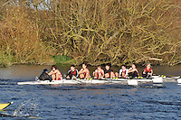 164 .SGC-Capel .IM3.8+ .St Georges Coll. Wallingford Head of the River. Sunday 27 November 2011. 4250 metres upstream on the Thames from Moulsford railway bridge to Oxford University's Fleming Boathouse in Wallingford. Event run by Wallingford Rowing Club.