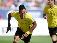 Fussball  1. Bundesliga  Saison 2013/2014    FC Augsburg - Borussia Dortmund      10.08.2013 JUBEL Dortmund; Pierre-Emerick Aubameyang nach seinem Tor zum 0-1