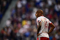 Thierry Henry (14) of the New York Red Bulls. The New York Red Bulls defeated FC Dallas 1-0 during a Major League Soccer (MLS) match at Red Bull Arena in Harrison, NJ, on September 22, 2013.