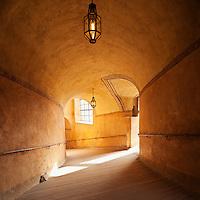 Passage way in castle, Cesky Krumlov, Czech Republic
