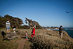 The Massimino family hikes Gualala Point Regional Park in Gualala, Calif., on July 3, 2011.