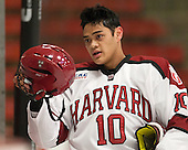 Brayden Jaw (Harvard - 10) - The Harvard University Crimson defeated the Colgate University Raiders 4-1 (EN) on Friday, February 15, 2013, at the Bright Hockey Center in Cambridge, Massachusetts.