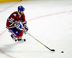 15 October 2009: Montreal Canadiens' defenseman Paul Mara starts a rush from his own end against the Colorado Avalanche in the second period at the Bell Centre in Montreal, Quebec, Canada. The Avalanche defeated the Canadiens 3-2 in the home opening game for the Habs. Mandatory Credit: Ed Wolfstein Photo